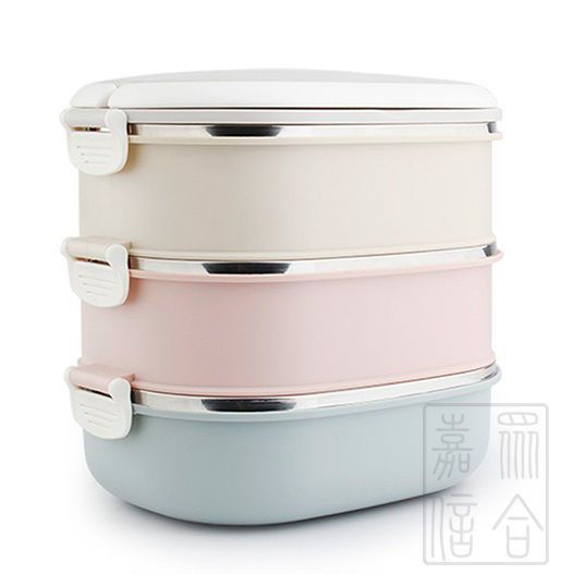 3-Layers Lunch Box Stainless Steel Thermal Insulated  Food Container Camping Bbq