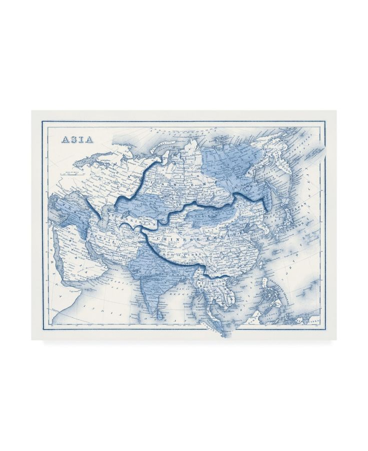 Vision Studio Asia in Shades of Blue Canvas Art – 15.5 x 21