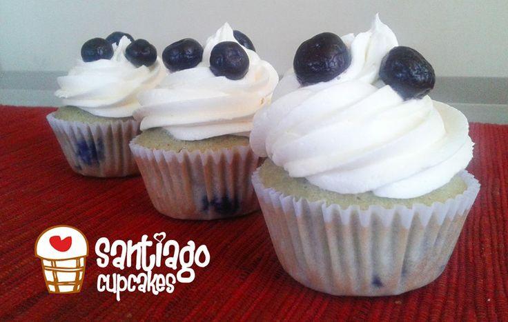 Cupcakes de arandanos! Deliciosos!!
