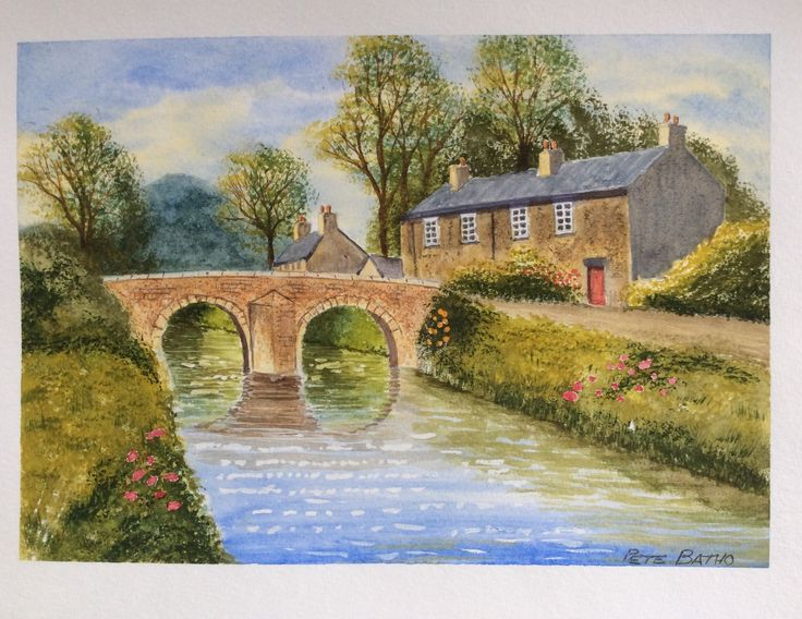 Riverside Cottage - Altarnun. Watercolour. A Terry Harrison tutorial.