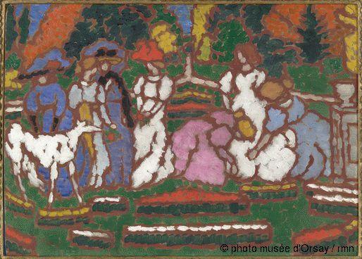 Jozsef Rippl-Ronai Dans le jardin des Somssich entre 1912 et 1913 huile sur carton H. 0.492 ; L. 0.683 musée d'Orsay, Paris, France ©photo musée d'Orsay / rmn