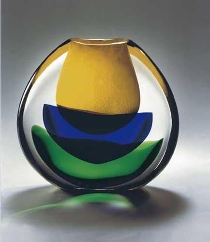 "Murano Master Glass Artists ""Fiore Basso Glass Sculpture""2006"