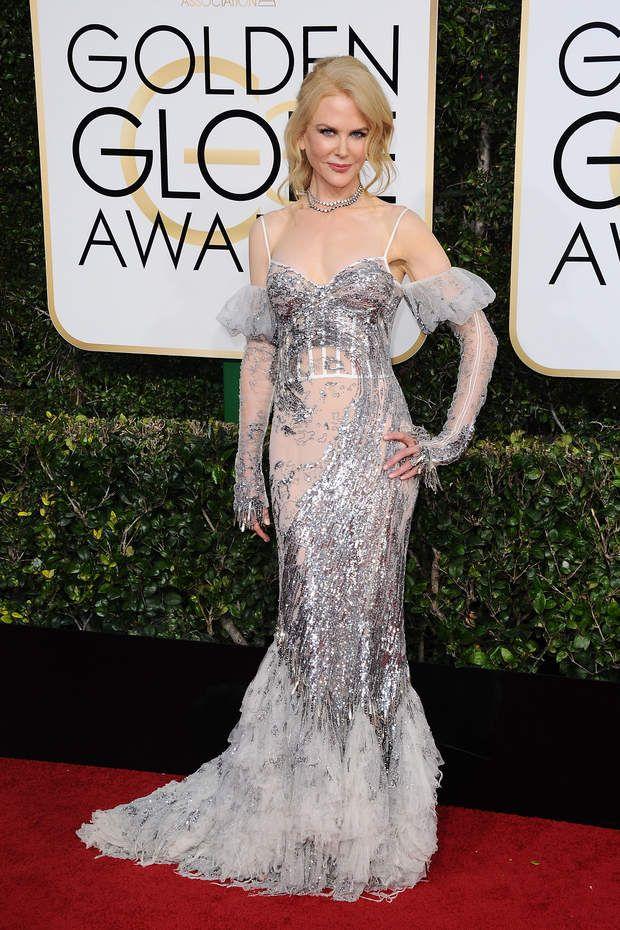 Golden Globes 2017 : la tenue de Nicole Kidman est signée Alexander McQueen