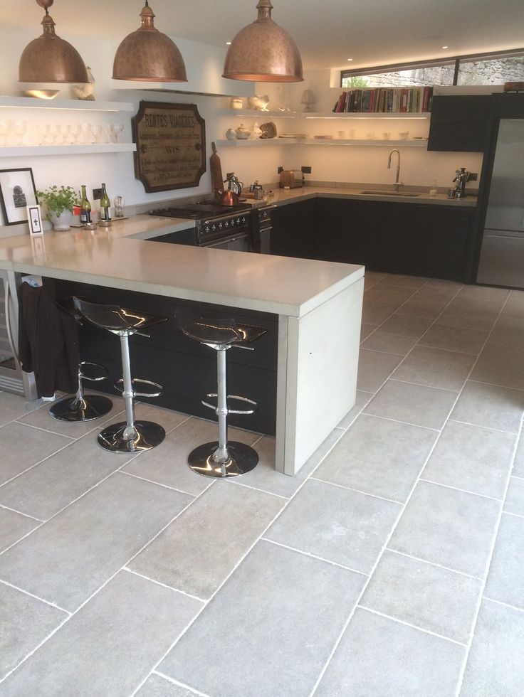 23 best Grey stone tiles for floors, walls and outside images on - kitchen floor tiles ideas