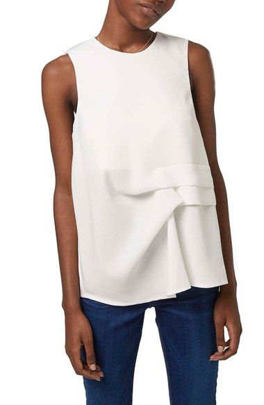 Topshop Gathered Shell Top available at #Nordstrom