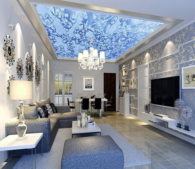 Customize Ceiling Mural Elegant Living Room Romantic Living Room Home Decor