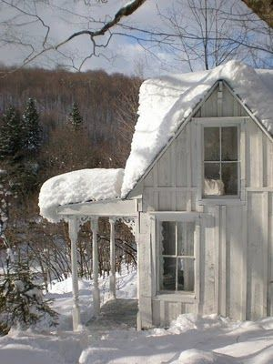 Frosty CabinCabin, Farms House, Old Farmhouse, Snow, Winter Wonderland, Tiny Cottages, White Stuff, White House, Little Cottages
