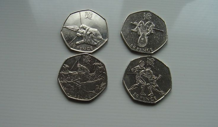 50p coins Fifty pence x 4 Olympics Fencing Athletics Canoeing Archery £6.25 or Best Offer Ebay Uk Item No 361992088121