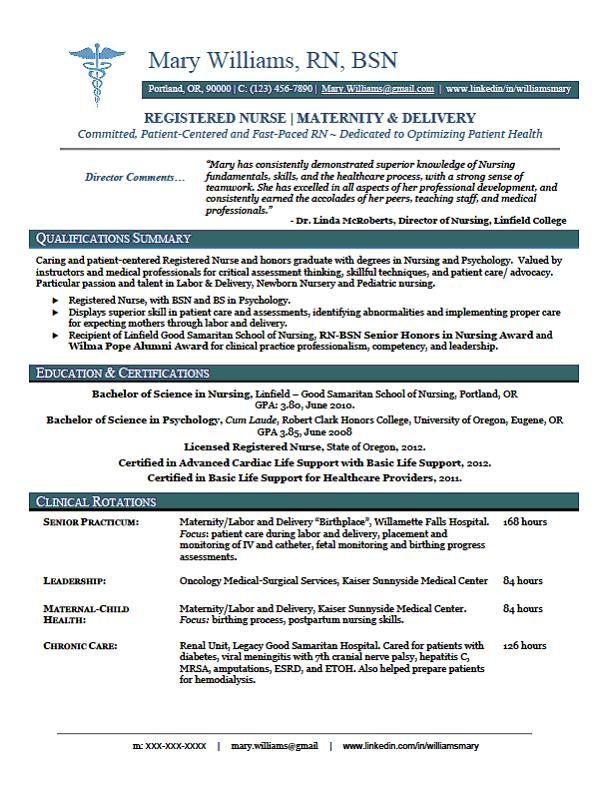 New Registered Nurse Resume Resume Sample
