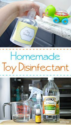 Kid's toys are full of germs from being in your baby's mouth to the floor and touching everything in between. This safe disinfectant cleans those toys with ingredients you already have at home! http://www.ehow.com/how_12212674_disinfect-baby-toys-home-remedy.html?utm_source=pinterest.com&utm_medium=referral&utm_content=freestyle&utm_campaign=fanpage