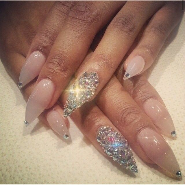 218 best nails 3 images on pinterest nail art ideas nail diamonds are a girls bestfriend nails prinsesfo Images