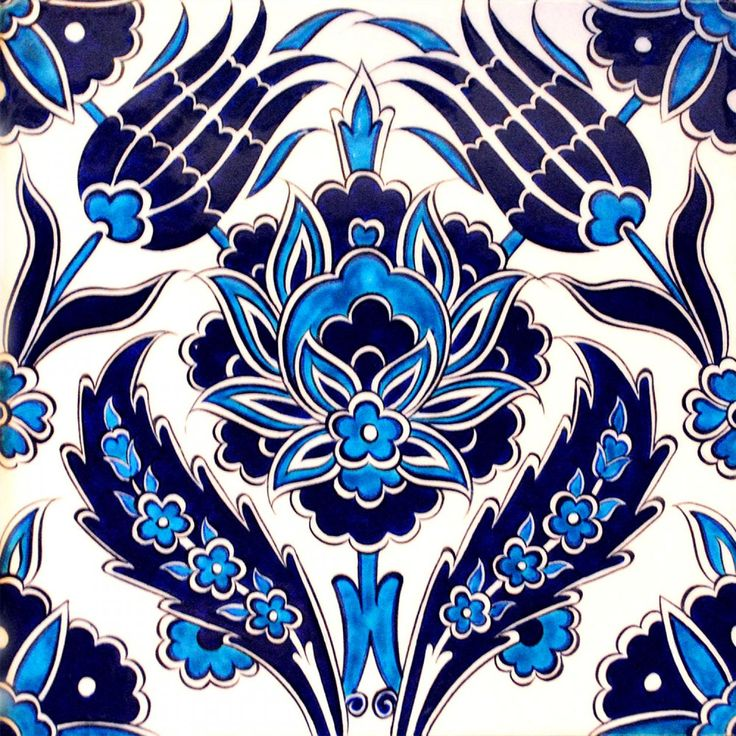 Turkish tile. #azulejos #blue