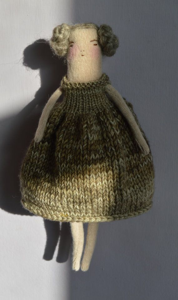 Knitting Pattern For Dolls Jumper : Fawn - A knitted art doll Jumpers, Head to and For kids