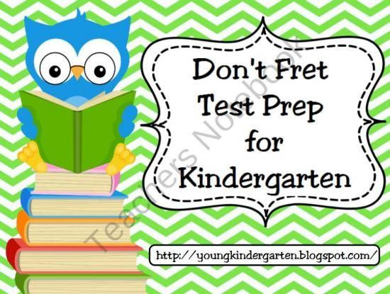 No Fret Kindergarten Test Prep for Promethean Boards from KellyYoung on TeachersNotebook.com (35 pages)  - No need to fret over kindergarten standardized testing! I created this flipchart to help prepare my kindergarten students for taking a standardized test. The content of the test is not that difficult, however the problem with little ones lies in the test