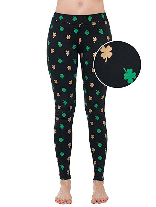 c56ce36ae9bd6 Women's Green ST. Patrick's Day Leggings - ST. Paddy's Day Tights Pants For  Ladies (Gold Foil, Medium) at Amazon Women's Clothing store: