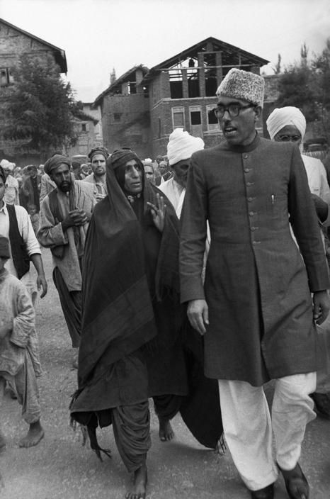 Henri Cartier-Bresson // Asia, 1947/1948 - India. . Sheikh Abdullah, Moslem socialist leader is highly ragarded by Kashmiri moslem peasants as well as in New Delhi. A friend of Gandhi and Nehru.