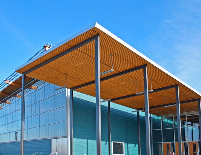 Richmond Christian School, main entrance canopy, Richmond, BC, Canada