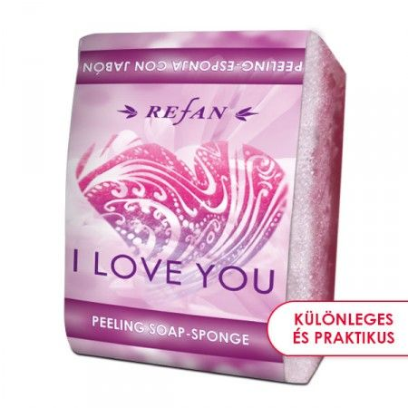 I Love You szivacsos szappan - 2 az 1-ben bőrfeszesítő szivacsos szappan a tubarózsa és a mimóza friss illatával. Gyengéd bőrradírozó és feszesítő hatású. Mindennapi használata megelőzi a narancsbőr kialakulását, serkenti a vérkeringést. ©Refantázia