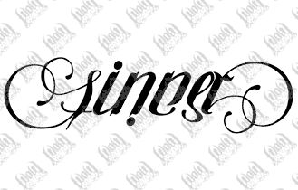 sinner/saint ambigram - perfect next tattoo