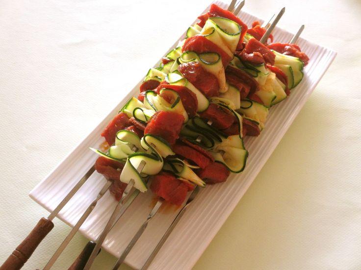 Brochettes de boeuf, courgette et chorizo : Diet & Délices - Recettes dietétiques