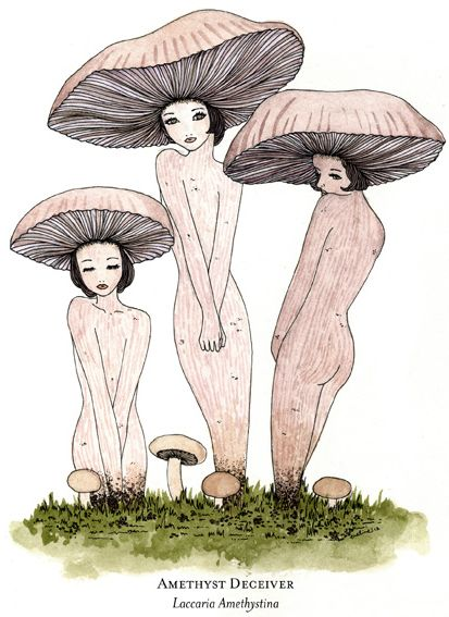 ☽ Glitter Tomb ☾ - Mushroom Pieces by Eveline Tarunadjaja, one of my...