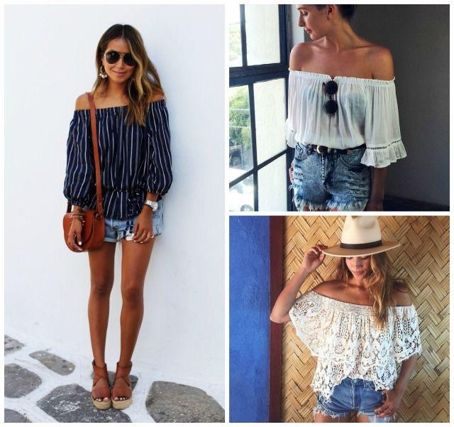 4 Combinações para inspirar seus looks de verão   blusa ombro a ombro