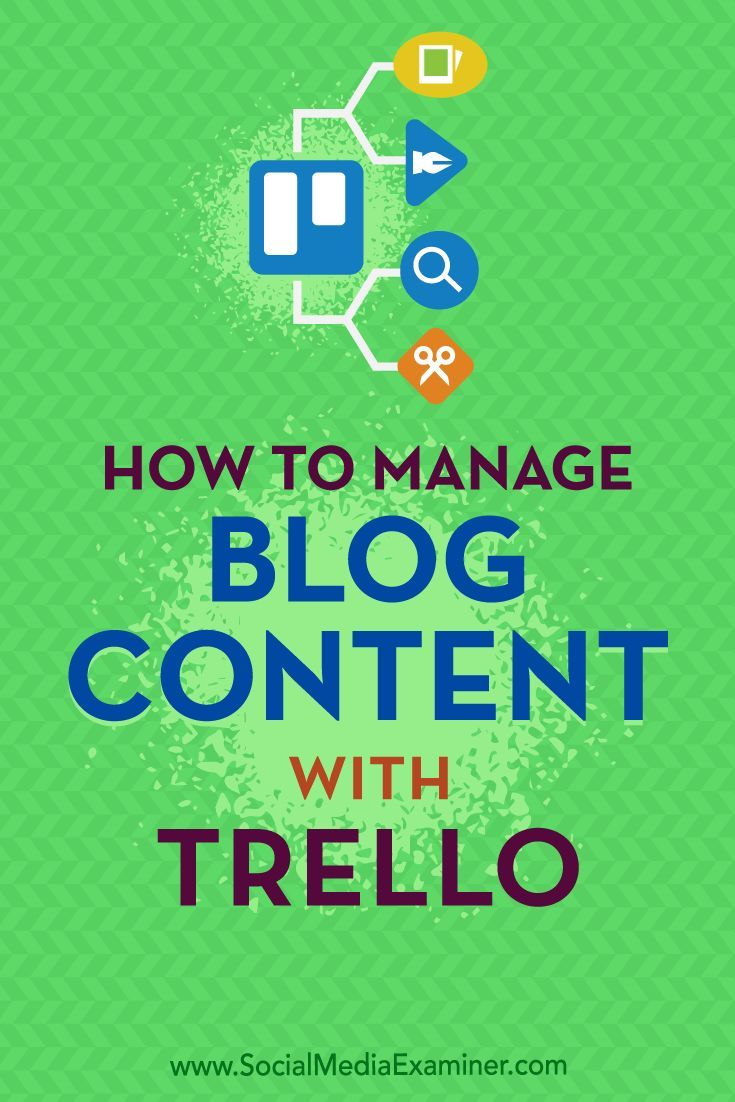 Do you need a better way to manage your blog content?  Looking for a tool to outline your blogging workflow from beginning to end?  In this article, you'll discover how to effectively organize how you brainstorm, write, and publish your blog's content with Trello.