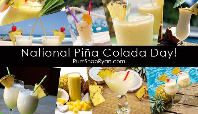National Pina Colada Day! So sad I missed it this year