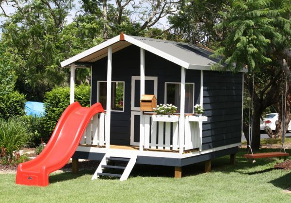 Timber Cubby House   Paint or Decorate your Cubby House Design   Aarons Outdoor Living