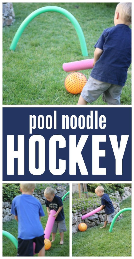 Toddler Approved!: Pool Noodle Hockey for Kids