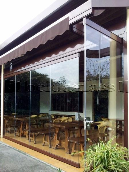 Cerramiento de terraza con paredes moviles de vidrio - Terraza de cristal ...