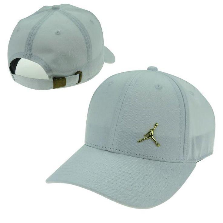 Men s   Women s Unisex Nike Swoosh Gold Metal Iconic Logo Strap Back  Baseball Adjustable Hat - White e75633d29e01