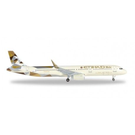 Airbus A321 Etihad Airways a escala 1:500 de Herpa, mas info: http://www.maqualas.cl/es/home/431-airbus-a321-etihad-airways.html