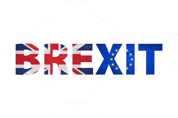 Brexit Text Isolated.  by Rommeo79 on @creativemarket