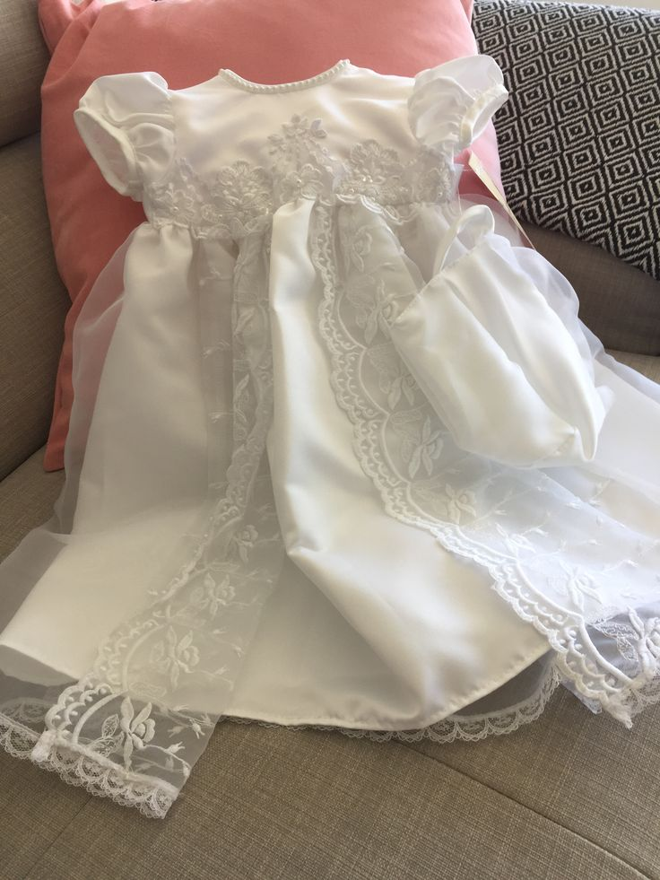 Totally in love with this Christening gown #bisoubaby #love #christening #summer #laurenmadison #baby #babyfashion buy now online at Bisou Baby www.bisoubaby.com.au