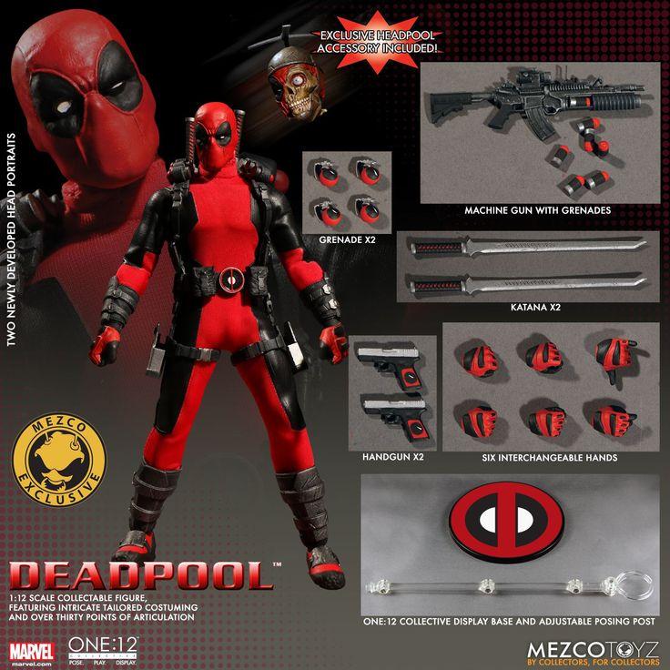 One:12 Collective Marvel Universe Deadpool Action Figure – Mezco Toyz