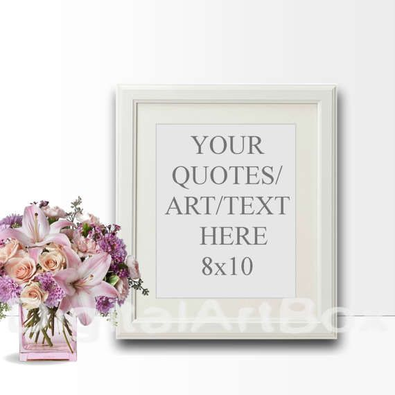 8x10 Vertical White Frame Mockup etsy.com 16x20 by DigitalArtBox