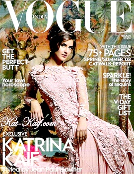 VOGUE INDIA - FEBRUARY 2008 COVER MODEL - KATRINA KAIF