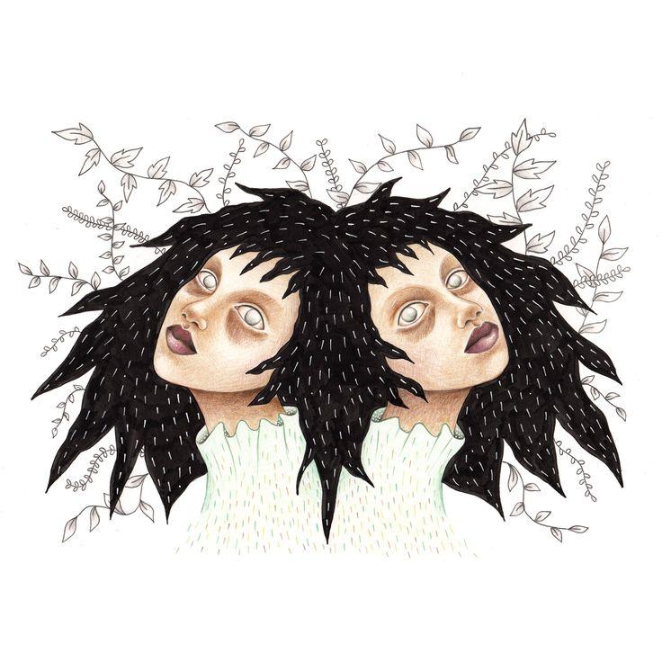 Quiero compartir lo último que he añadido a mi tienda de #etsy: Creepy twins. Original http://etsy.me/2ALLFBO