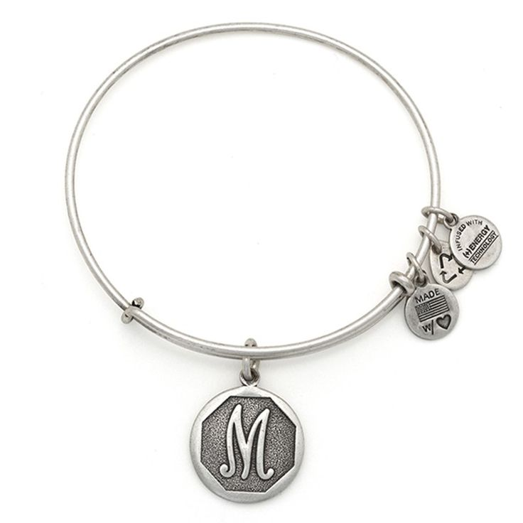 """Initial """"M"""" Charm Bracelet 