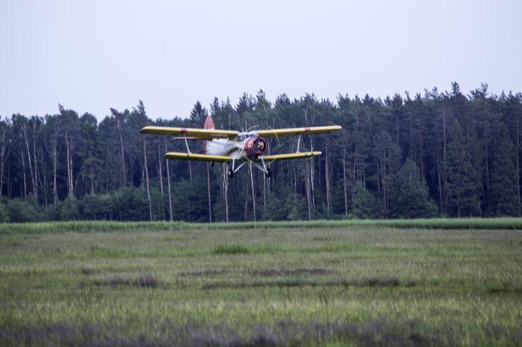 Grass airfield in Krepa