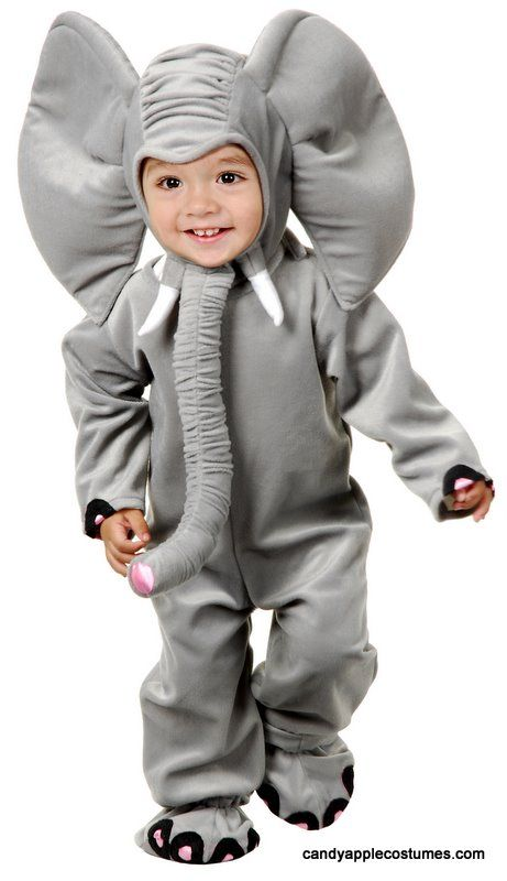 Deluxe Child/Toddler Plush Elephant Costume - Candy Apple Costumes - Deluxe Costumes