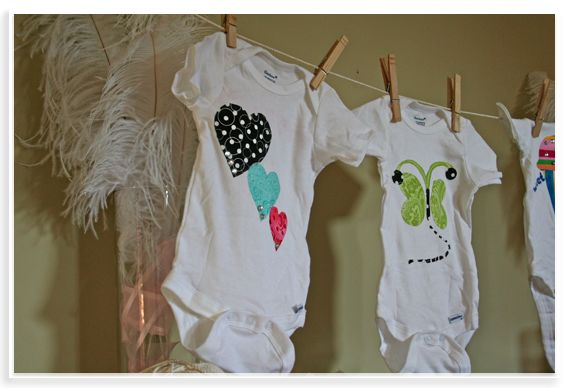 Onesie decorating - Good idea for a shower activity