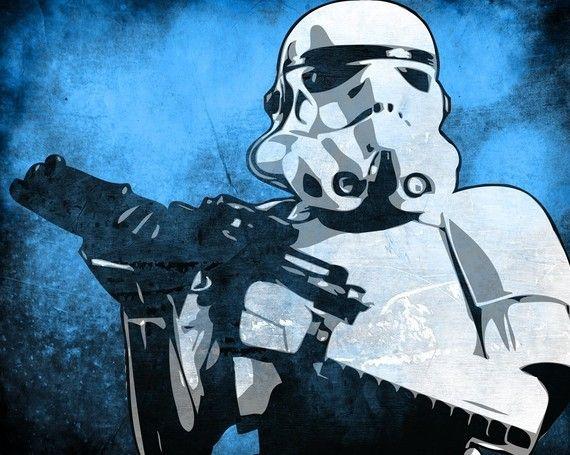 Star Wars Stormtrooper from the Star Wars Saga Pop Art Print 8 x 10 via Etsy