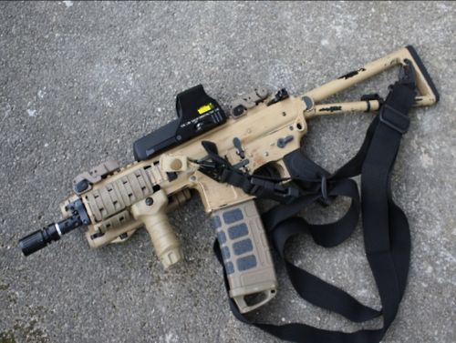 AR SBR without buffer tube and with folding stock.