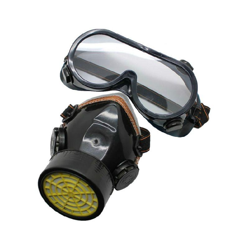 Soft Plastic Dual Valve Tech Dust mask Respirator Protective Mask Gas Mask Military Gas Mask