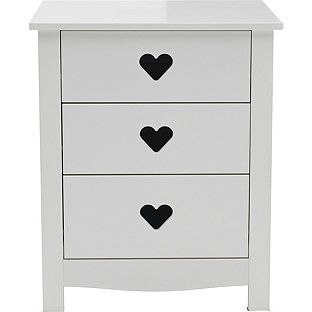 Buy Mia 3 Drawer Bedside Chest - White at Argos.co.uk, visit Argos.co.uk to shop online for Children's bedside cabinets