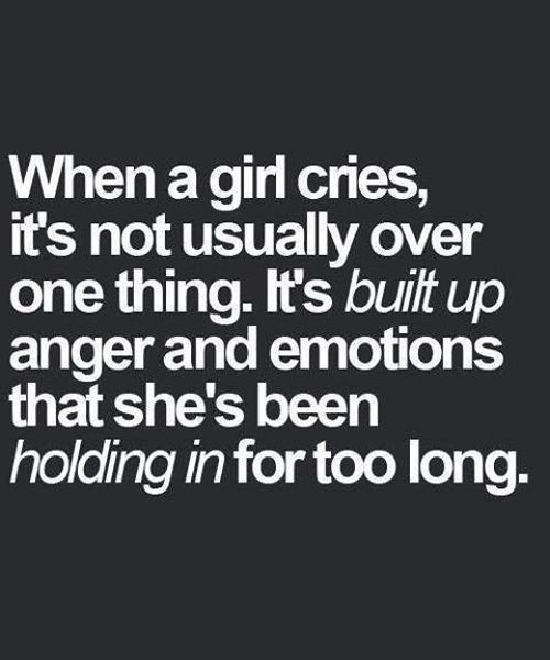 Sad Love Quotes For Girls: Girl Cries - Love Quote