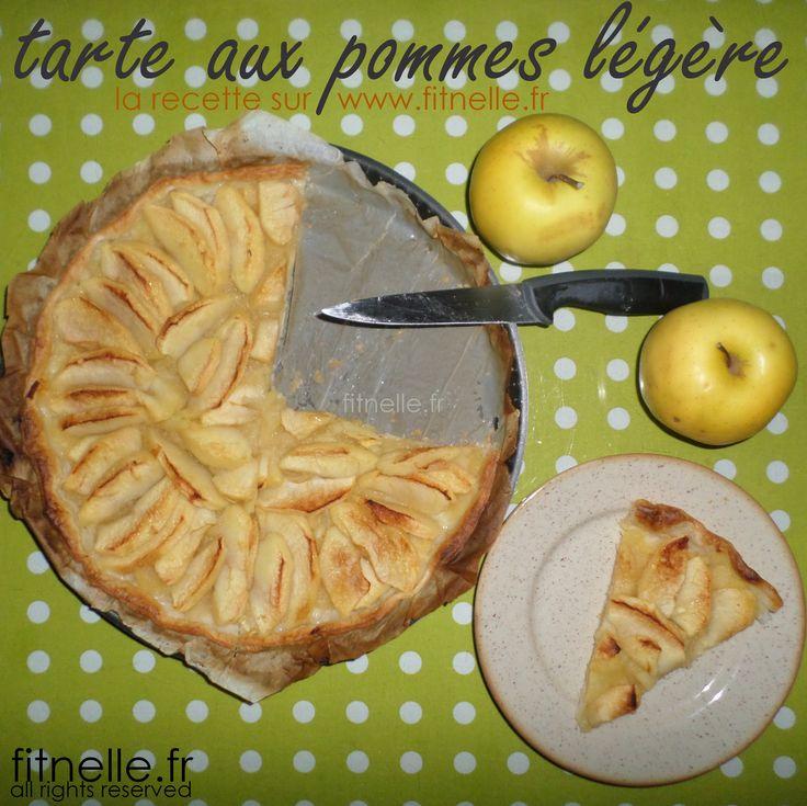 Retrouvez ma recette de la tarte aux pommes légère (seulement une cueillère à café de sucre !) ==> http://www.fitnelle.fr/tarte-aux-pommes-legere/ <==  #fitnelle #lovefood #healthy #fitness #nutrition #motivation #recipeoftheday