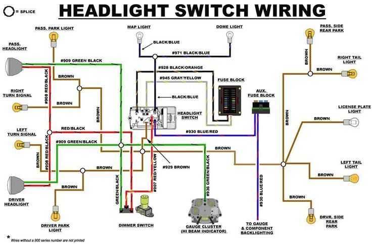 eb headlight switch wiring diagram early bronco build. Black Bedroom Furniture Sets. Home Design Ideas